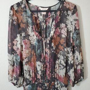Sundance silk floral sheer maxi dress